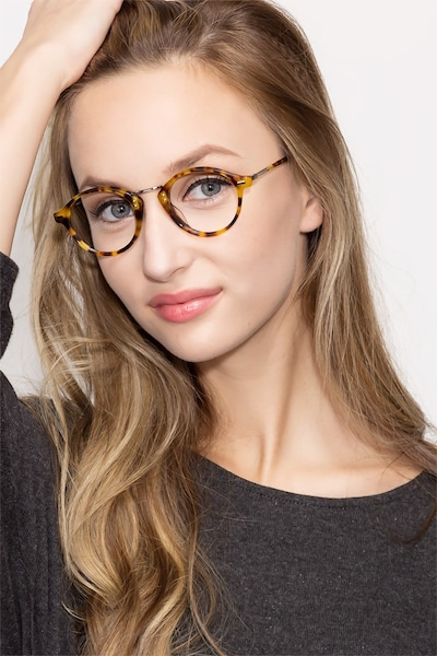 Shibuya Tortoise Acetate Eyeglass Frames for Women from EyeBuyDirect, Front View