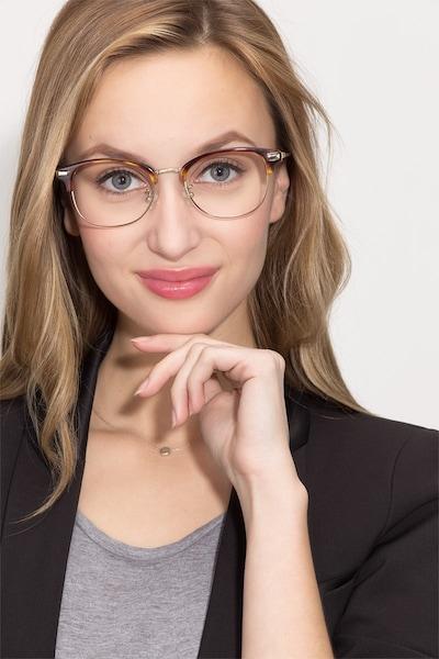 Kinjin Ecaille Acétate Montures de Lunettes pour Femmes d'EyeBuyDirect, Vue de Face