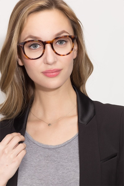 Vendome Tortoise Acetate Eyeglass Frames for Women from EyeBuyDirect, Front View