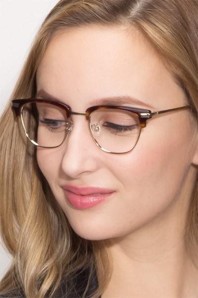 Identity Tortoise Acetate Eyeglass Frames for Women from EyeBuyDirect