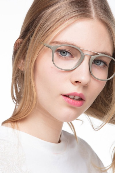 Lola Olive Metal Eyeglass Frames for Women from EyeBuyDirect