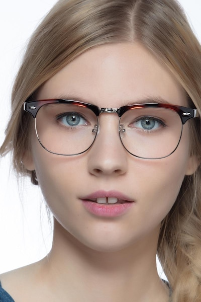 Coexist Tortoise Metal Eyeglass Frames for Women from EyeBuyDirect