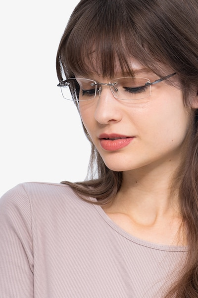 Connie Gunmetal Metal Eyeglass Frames for Women from EyeBuyDirect
