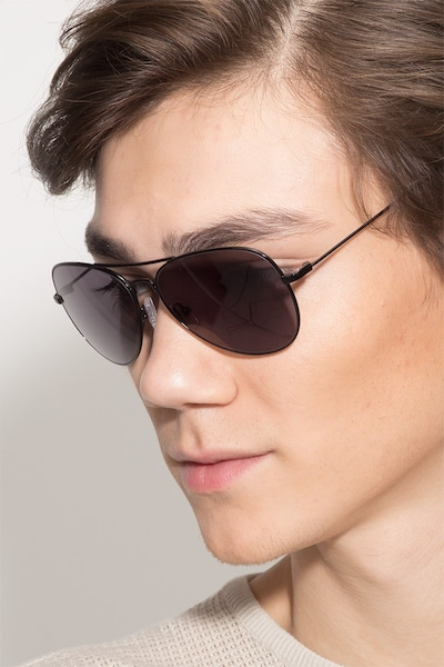 Good vibrations Black Metal Sunglass Frames for Men from EyeBuyDirect
