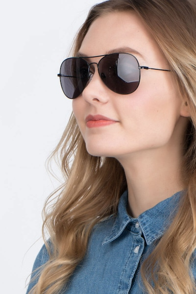 Good vibrations Black Metal Sunglass Frames for Women from EyeBuyDirect
