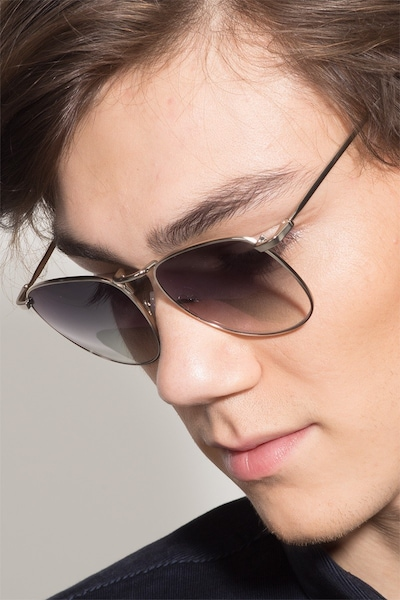 Fume Silver Metal Sunglass Frames for Men from EyeBuyDirect