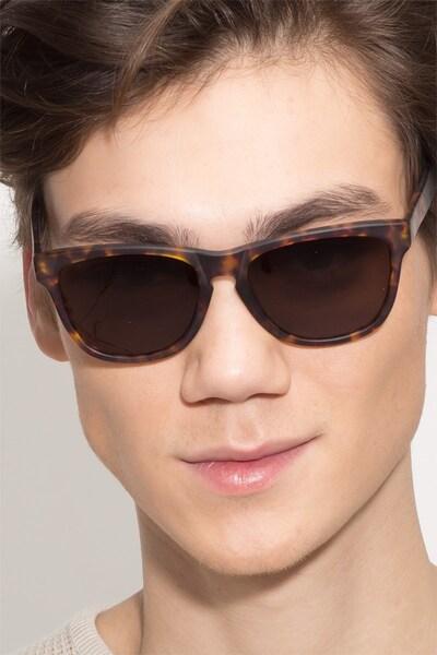 Malibu Brown/Tortoise Acetate Sunglass Frames for Men from EyeBuyDirect