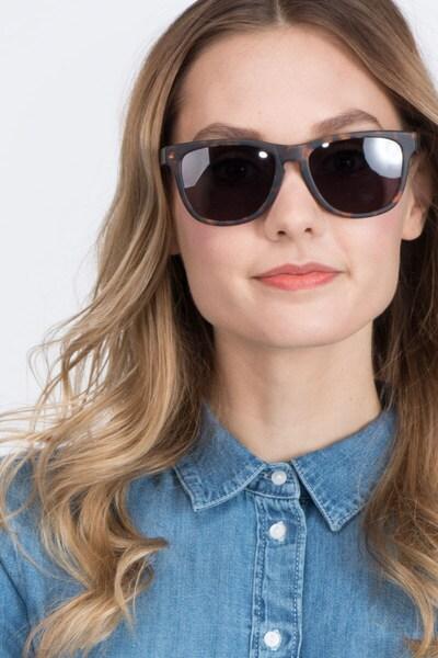 Malibu Brown/Tortoise Acetate Sunglass Frames for Women from EyeBuyDirect