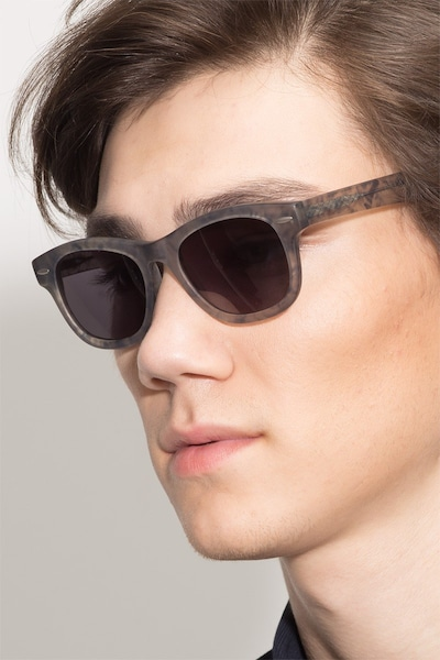 Hanoi Clear Floral Acetate Sunglass Frames for Men from EyeBuyDirect