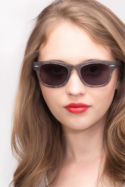Hanoi Clear Floral Acetate Sunglass Frames for Women from EyeBuyDirect