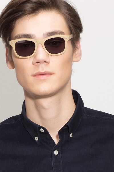 Hanoi Oak Acetate Sunglass Frames for Men from EyeBuyDirect, Front View
