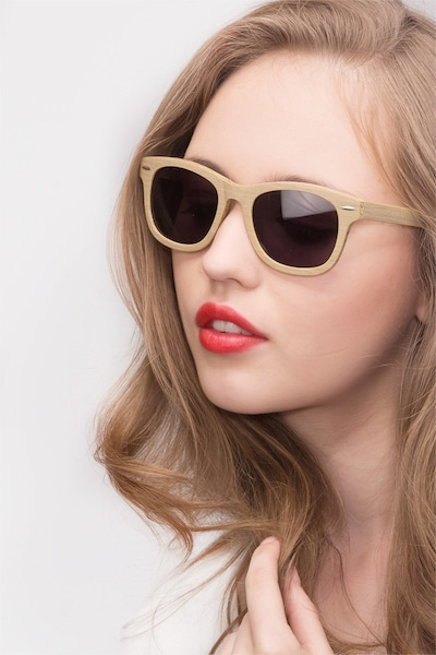 Hanoi Oak Acetate Sunglass Frames for Women from EyeBuyDirect, Front View