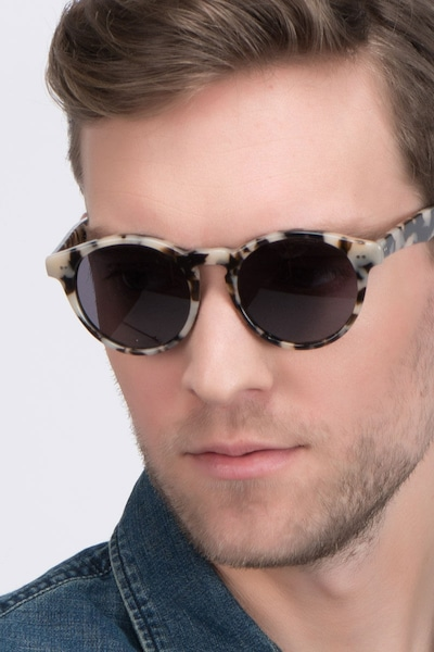 Havana Ivory Tortoise Acetate Sunglass Frames for Men from EyeBuyDirect