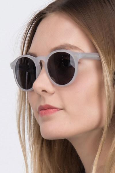 Havana Matte Clear Acetate Sunglass Frames for Women from EyeBuyDirect