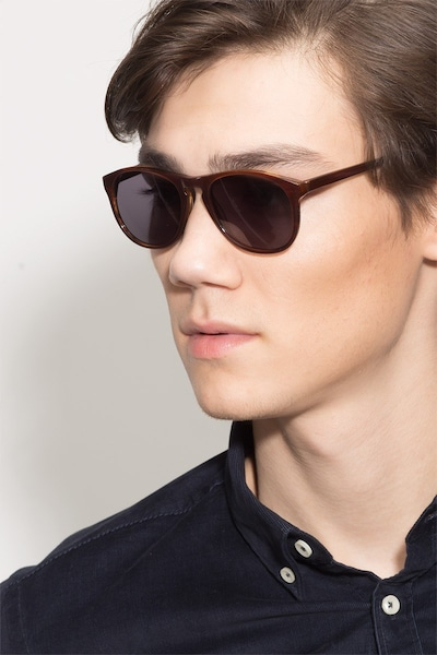 Silt Brown Acetate Sunglass Frames for Men from EyeBuyDirect, Front View