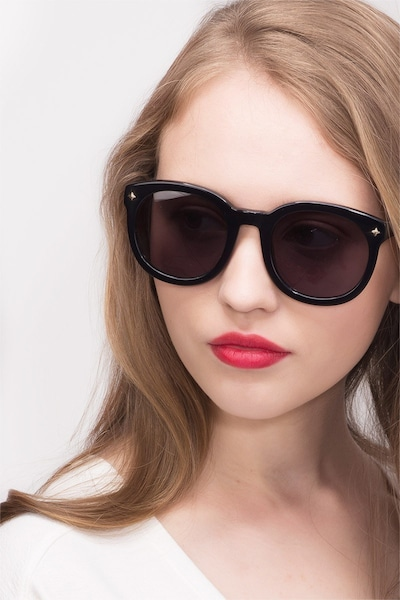 Paige Black Acetate Sunglass Frames for Women from EyeBuyDirect