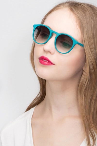 Air Matte Green Acetate Sunglass Frames for Women from EyeBuyDirect, Front View