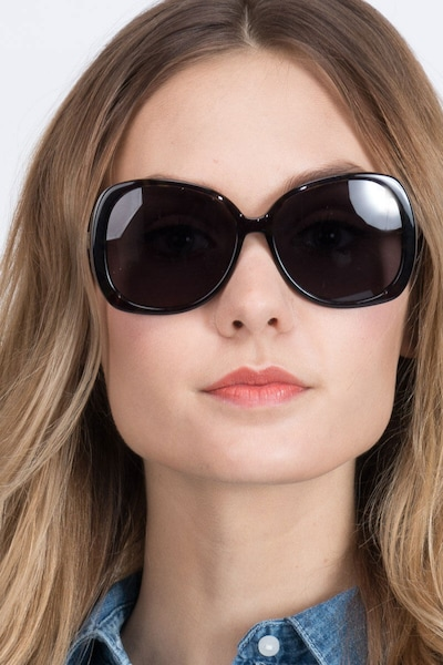 Petra Tortoise Acetate Sunglass Frames for Women from EyeBuyDirect