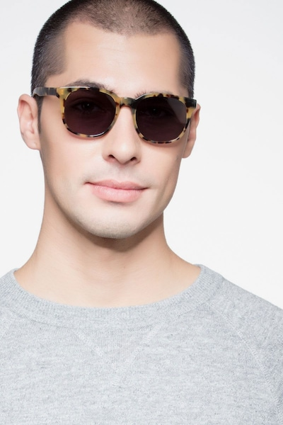 Tempest Tortoise Acetate Sunglass Frames for Men from EyeBuyDirect, Front View