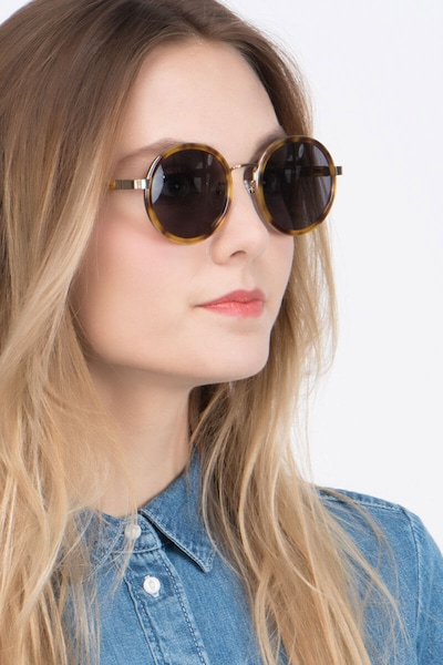 Bounce Tortoise Acetate Sunglass Frames for Women from EyeBuyDirect, Front View