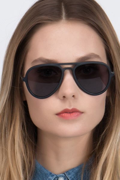 Riot Matte Black Acetate Sunglass Frames for Women from EyeBuyDirect