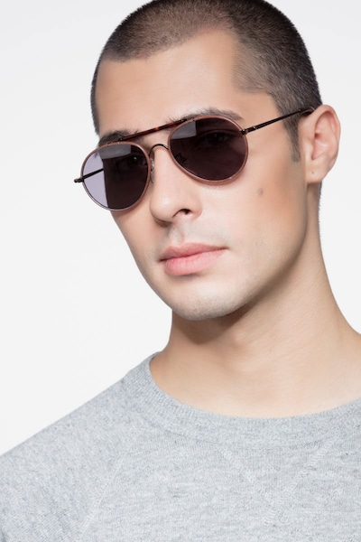 Nairobi Brown Acetate Sunglass Frames for Men from EyeBuyDirect, Front View