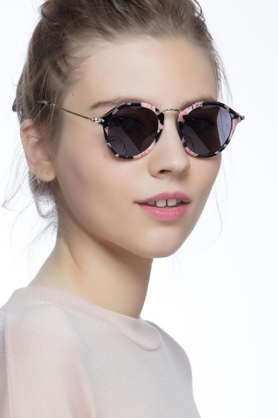 Atmos Floral Acetate Sunglass Frames for Women from EyeBuyDirect, Front View