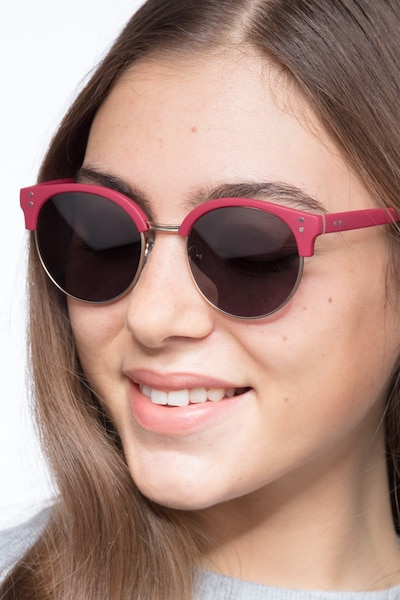 Samba Red Metal Sunglass Frames for Women from EyeBuyDirect