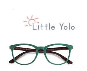 Green Little Yolo -  Geek Plastic Eyeglasses