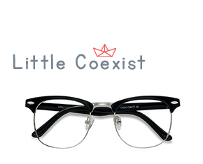 Black Little Coexist -  Geek Plastic, Metal Eyeglasses