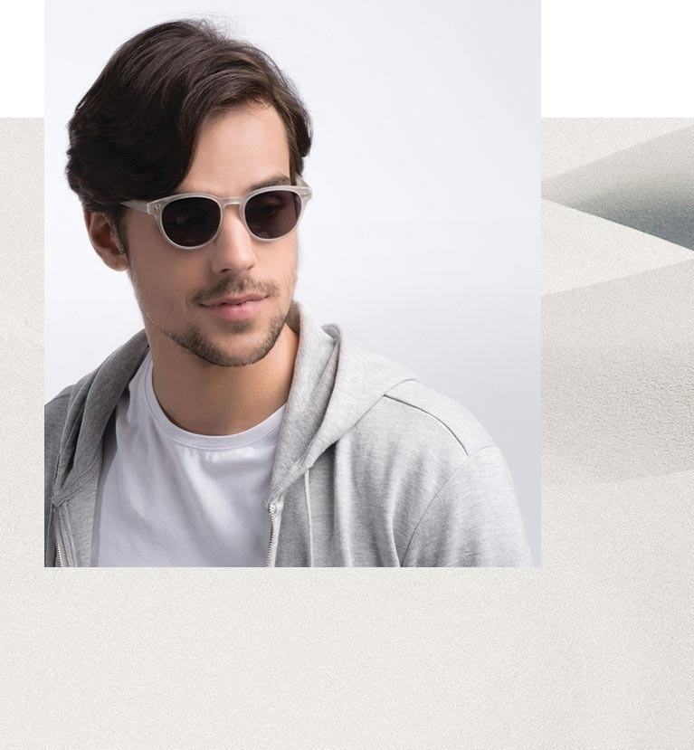 Man wearing Till Dawn sunglasses inside