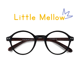 Matte Black Little Mellow -  Plastic Eyeglasses