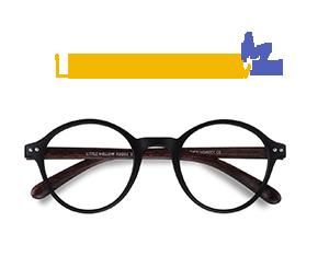 Matte Black Little Mellow -  Plastique Lunettes de Vue