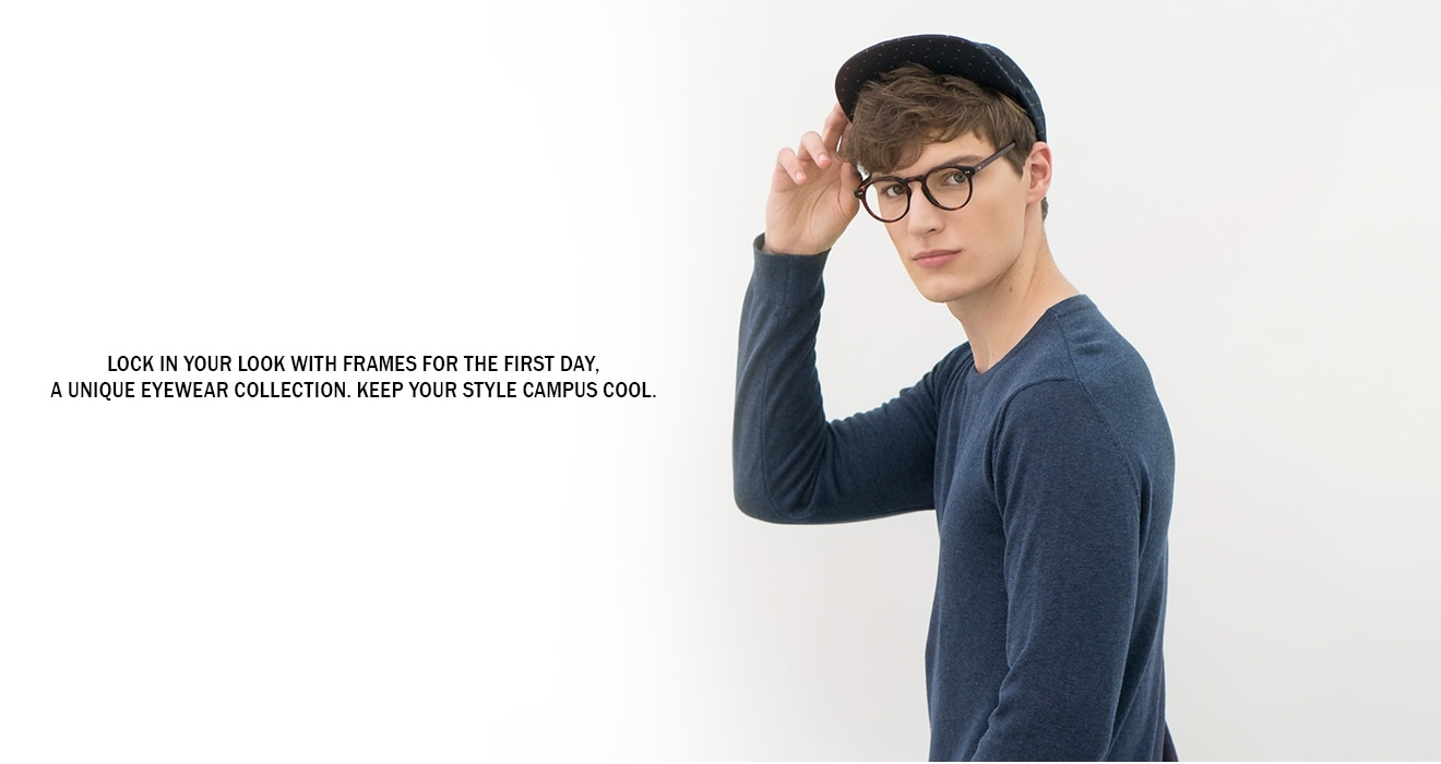 Lock in your look with Frames for the First Day, a unique eyewear collection. Keep your style campus cool.