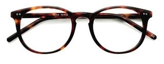 Colored oval glasses