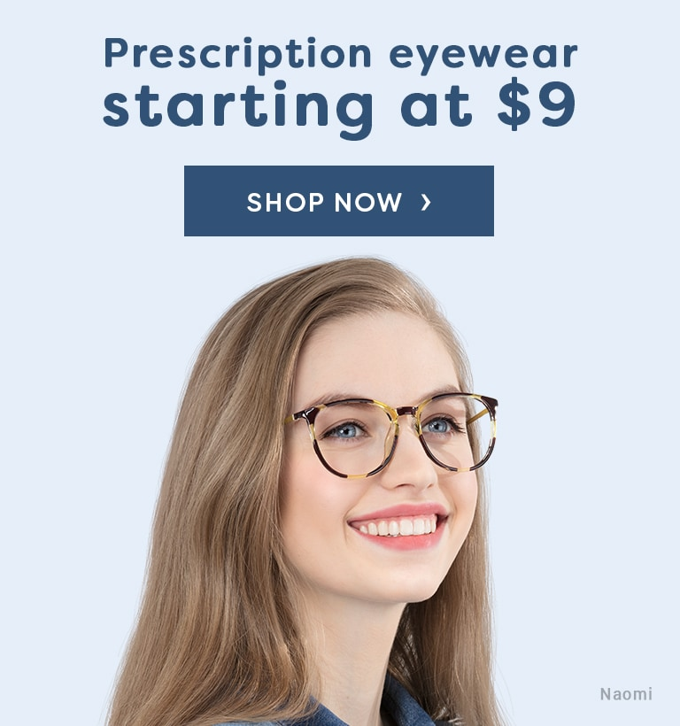 Prescription eyewear starting at $9