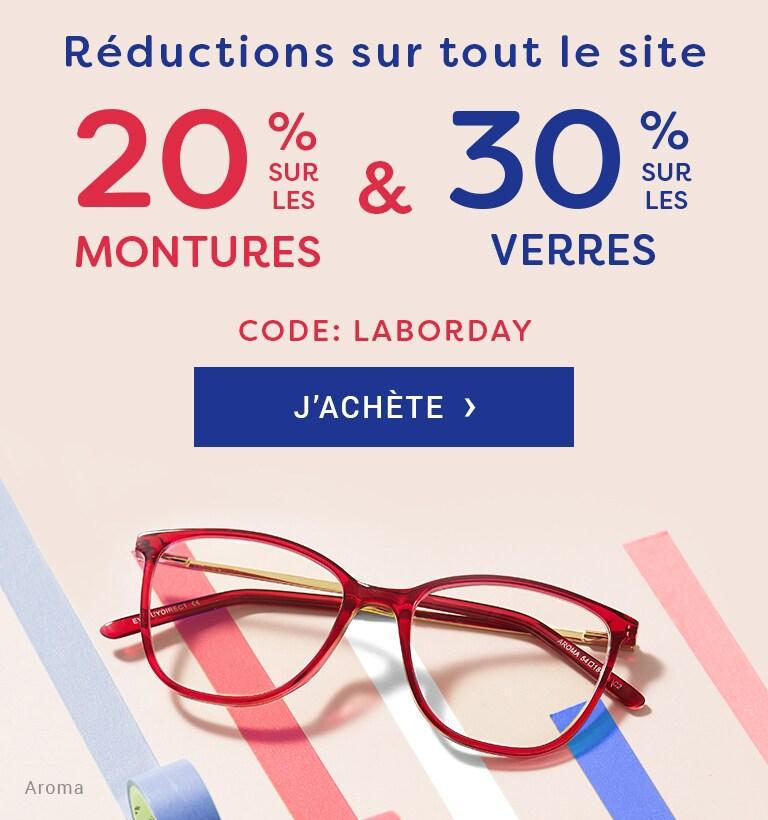 Vente Flash  -20% sur les montures & -30% sur les verres  Code : LABORDAY