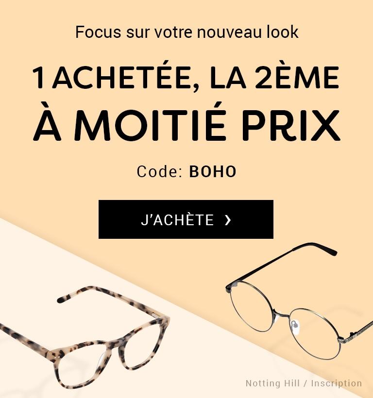 Focus sur votre nouveau look. 1 achetée, la 2ème à moitié prix