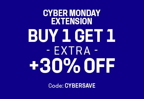 CYBER MONDAY  BUY 1 GET 1 FREE +30% OFF Code: CYBERSAVE