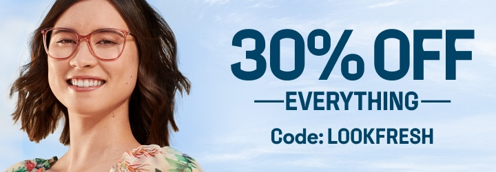 Take a look at this:  30% OFF EVERYTHING  CODE: LOOKFRESH