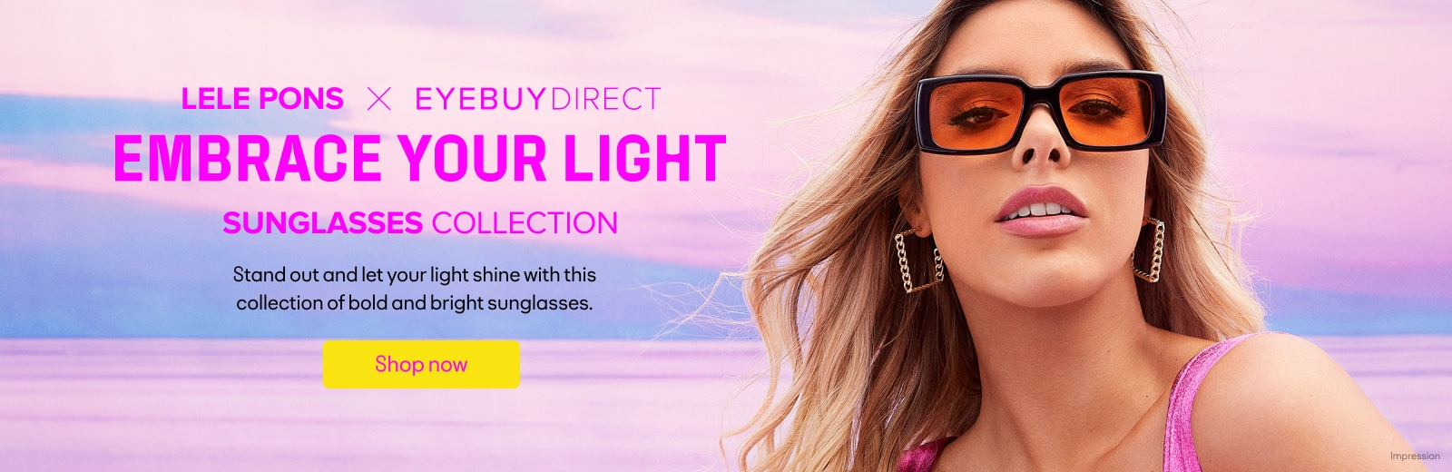 Lele Pons X Eyebuydirect Embrace your light sunglasses collection
