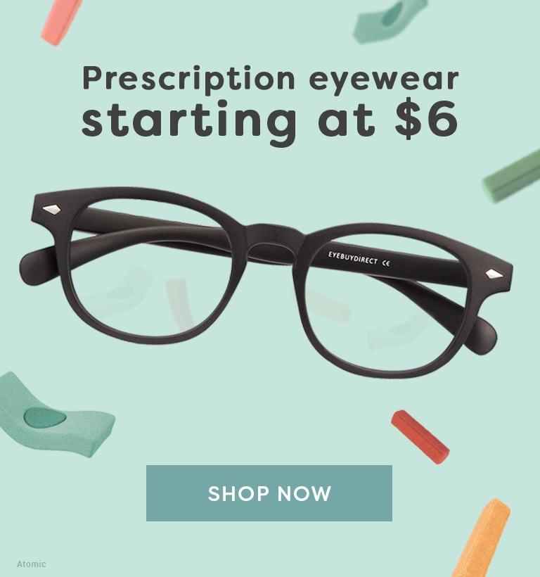 Prescription eyewear starting at 6$